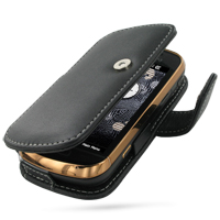 Leather Book Case for Samsung B7620 Giorgio Armani (Black)