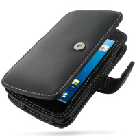 Leather Book Case for Samsung Captivate Galaxy S SGH-i897 (Black)