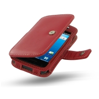 Leather Book Case for Samsung Captivate Galaxy S SGH-i897 (Red)