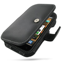 Leather Book Case for Samsung Fascinate Galaxy S SCH-i500 (Black)