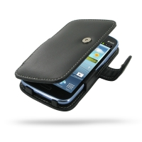 Samsung Galaxy Core Duos Leather Flip Cover PDair Premium Hadmade Genuine Leather Protective Case Sleeve Wallet