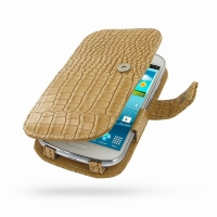 Leather Book Case for Samsung Galaxy Express GT-i8730 (Brown Crocodile Pattern)