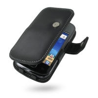 Leather Book Case for Samsung Galaxy Gio GT-S5660 (Black)