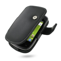 Leather Book Case for Samsung Galaxy Mini GT-S5570 (Black)