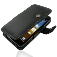 Samsung Galaxy R Leather Flip Cover (Black) PDair Premium Hadmade Genuine Leather Protective Case Sleeve Wallet
