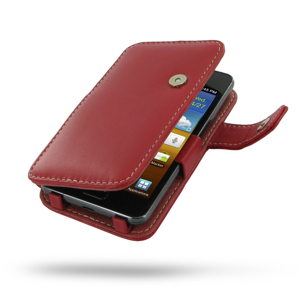 10% OFF + FREE SHIPPING, Buy Best PDair Top Quality Handmade Protective Samsung Galaxy R Leather Flip Cover (Red) online. Pouch Sleeve Holster Wallet You also can go to the customizer to create your own stylish leather case if looking for additional color