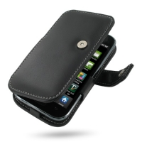 Leather Book Case for Samsung Galaxy S GT-i9003 (Black)