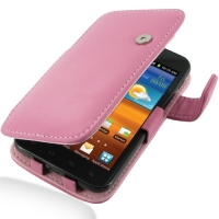 Leather Book Case for Samsung Galaxy S II Epic 4G Touch SPH-D710 (Petal Pink)