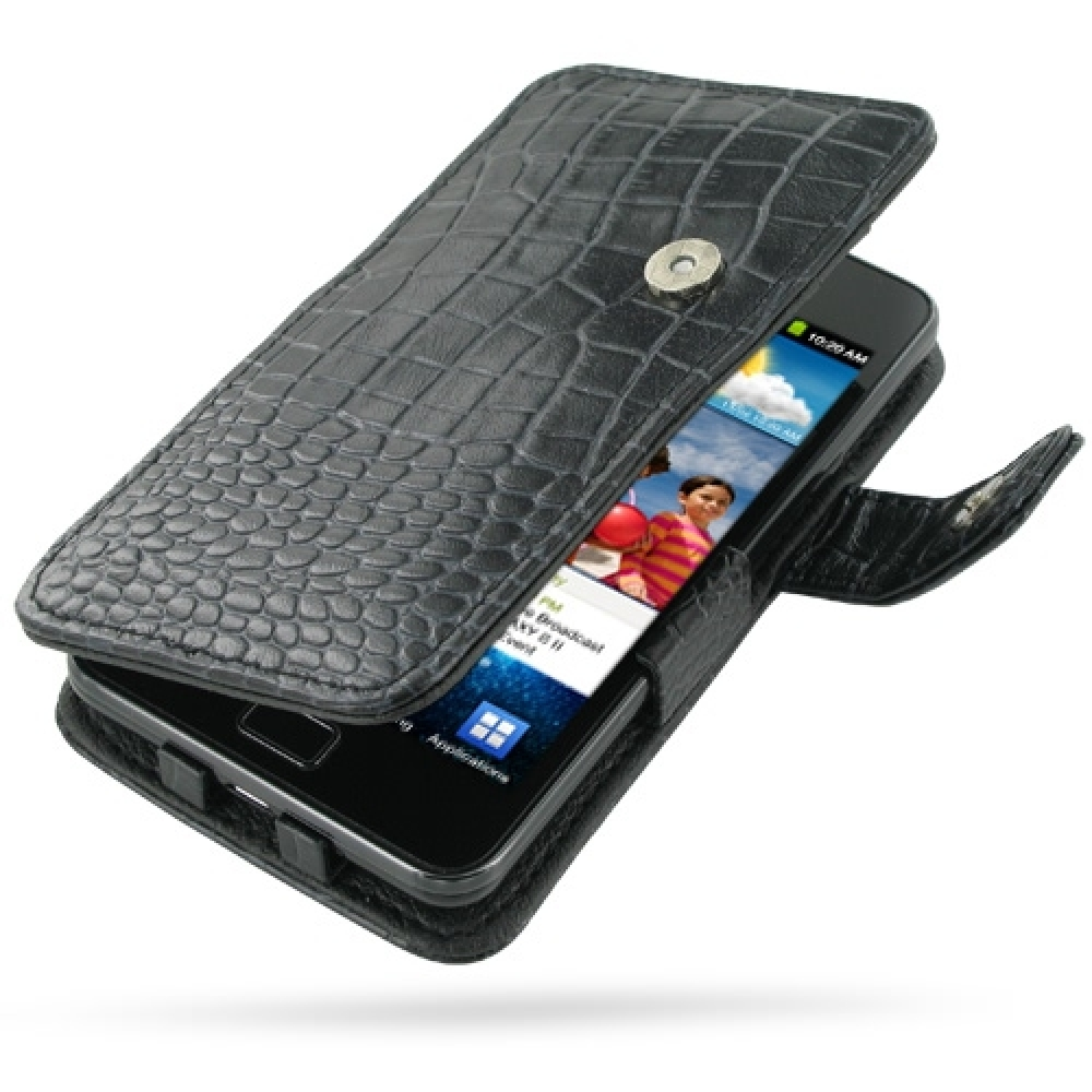 10% OFF + FREE SHIPPING, Buy Best PDair Top Quality Handmade Protective Samsung Galaxy S2 Leather Flip Cover (Black Croc). Pouch Sleeve Holster Wallet You also can go to the customizer to create your own stylish leather case if looking for additional colo