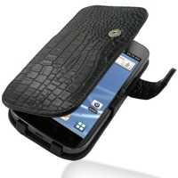 10% OFF + FREE SHIPPING, Buy PDair Top Quality Handmade Protective Samsung Galaxy S2 T989 Leather Flip Cover (Black Croc) online. Pouch Sleeve Holster Wallet You also can go to the customizer to create your own stylish leather case if looking for addition
