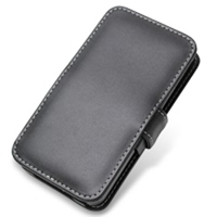 Samsung Galaxy S2 WiMAX Leather Flip Cover (Black) PDair Premium Hadmade Genuine Leather Protective Case Sleeve Wallet