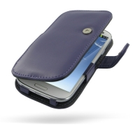 Leather Book Case for Samsung Galaxy S III S3 GT-i9300 (Purple)