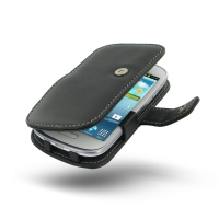 Samsung Galaxy S3 Mini Leather Flip Cover PDair Premium Hadmade Genuine Leather Protective Case Sleeve Wallet