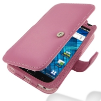 Samsung Galaxy S WiFi 5.0 Leather Flip Cover (Petal Pink) PDair Premium Hadmade Genuine Leather Protective Case Sleeve Wallet