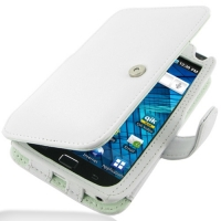 Samsung Galaxy S WiFi 5.0 Leather Flip Cover (White) PDair Premium Hadmade Genuine Leather Protective Case Sleeve Wallet