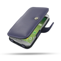 Leather Book Case for Samsung Galaxy S4 SIV LTE GT-i9500 GT-i9505 (Purple)