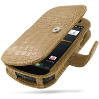 Leather Book Case for Samsung Google Nexus S GT-i9020T i9023 (Brown Crocodile Pattern)