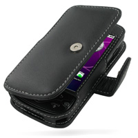 Leather Book Case for Samsung i5700 Galaxy Spica (Black)