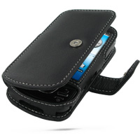 Leather Book Case for Samsung i7500 Galaxy (Black)