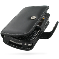 Leather Book Case for Samsung Jack SGH-i637 (Black)
