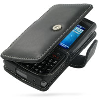 Leather Book Case for Samsung SGH-i780 (Black)