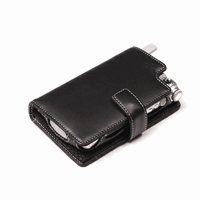 Leather Book Case for Samsung SPH-i700 (Black)