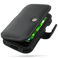 Leather Book Case for Samsung Vibrant Galaxy S SGH-T959 (Black)