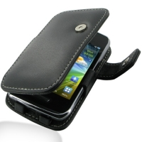Leather Book Case for Samsung Wave Y GT-S5380 (Black)