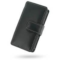 Leather Book Case for Samsung YP-K5AB YP-K5QB YP-K5ZB (Black)