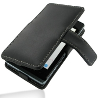 Leather Book Case for Sharp AQUOS PHONE f SH-13C (Black)