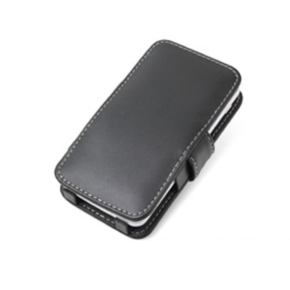 Sharp PANTONE 5 107SH Leather Flip Cover (Black) PDair Premium Hadmade Genuine Leather Protective Case Sleeve Wallet