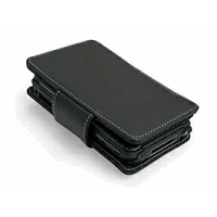 Leather Book Case for Sony Clie TH55 (Black)