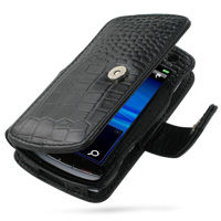 10% OFF + FREE SHIPPING, Buy PDair Top Quality Handmade Protective Sony Ericsson Vivaz / U5i Leather Flip Cover (Black Croc) online. You also can go to the customizer to create your own stylish leather case if looking for additional colors, patterns and t
