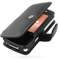 Leather Book Case for Sony Ericsson W960 (Black)