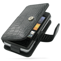 10% OFF + FREE SHIPPING, Buy PDair Top Quality Handmade Protective Sony Ericsson XPERIA X1 Leather Flip Cover (Black Croc) online. Pouch Sleeve Holster Wallet You also can go to the customizer to create your own stylish leather case if looking for additio