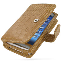 10% OFF + FREE SHIPPING, Buy PDair Quality Handmade Protective Sony Ericsson Xperia X10 Leather Flip Cover (Snap Button) (Brown Croc). You also can go to the customizer to create your own stylish leather case if looking for additional colors, patterns and
