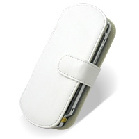 Sony PSP Leather Flip Cover (White) PDair Premium Hadmade Genuine Leather Protective Case Sleeve Wallet