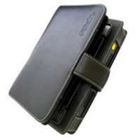 Sony VAIO U50 U70 Leather Flip Cover (Black) PDair Premium Hadmade Genuine Leather Protective Case Sleeve Wallet