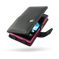 Sony Xperia Acro S Leather Flip Cover PDair Premium Hadmade Genuine Leather Protective Case Sleeve Wallet