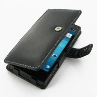 Sony Xperia Ion Leather Flip Cover PDair Premium Hadmade Genuine Leather Protective Case Sleeve Wallet