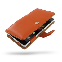 Leather Book Case for Sony Xperia Z L36H (Orange)