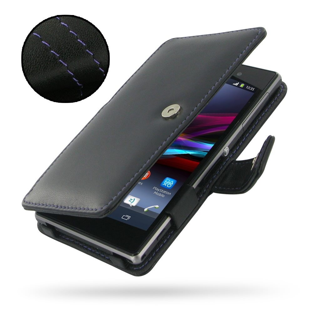 10% OFF + FREE SHIPPING, Buy Best PDair Top Quality Handmade Protective Sony Xperia Z1 Leather Flip Cover (Purple Stitch). Pouch Sleeve Holster Wallet You also can go to the customizer to create your own stylish leather case if looking for additional colo