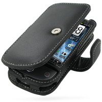 Leather Book Case for Sprint HTC Hero (Black)