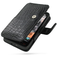 10% OFF + FREE SHIPPING, Buy Best PDair Top Quality Handmade Protective T-Mobile HTC HD2 Leather Flip Cover (Black Croc) online. Pouch Sleeve Holster Wallet You also can go to the customizer to create your own stylish leather case if looking for additiona