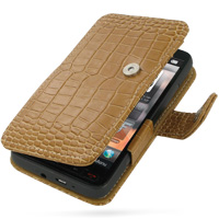 10% OFF + FREE SHIPPING, Buy Best PDair Top Quality Handmade Protective T-Mobile HTC HD2 Leather Flip Cover (Brown Croc) online. Pouch Sleeve Holster Wallet You also can go to the customizer to create your own stylish leather case if looking for additiona