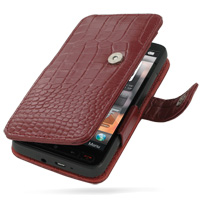 10% OFF + FREE SHIPPING, Buy Best PDair Top Quality Handmade Protective T-Mobile HTC HD2 Leather Flip Cover (Red Croc) online. Pouch Sleeve Holster Wallet You also can go to the customizer to create your own stylish leather case if looking for additional