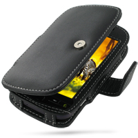 T-Mobile HTC myTouch 4G Leather Flip Cover (Black) PDair Premium Hadmade Genuine Leather Protective Case Sleeve Wallet