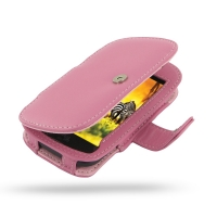 T-Mobile HTC myTouch 4G Leather Flip Cover (Petal Pink) PDair Premium Hadmade Genuine Leather Protective Case Sleeve Wallet