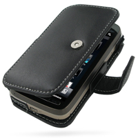 Leather Book Case for T-Mobile HTC Touch Pro2 (Black)