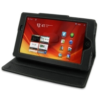 Leather Book Stand Case for Acer ICONIA Tab A100 (Black)